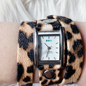 LA MER Collections Leopard Print Wrap Watch